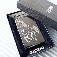 "Зажигалка ""Zippo"" - Мустанг. Оригинал, фото 1"