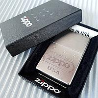 "Зажигалка ""Zippo"" серебристая. ""USA"", оригинал., фото 1"