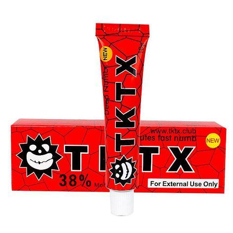 Крем анестетик замораживающий красный TKTX Red 38% (мазь охлаждающая), фото 2