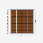 Заборная секция «Жалюзи» 2×2,06 м, фото 3
