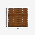 Заборная секция «Шахматка горизонтальная» 2×2,025 м, фото 3