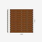 Заборная секция «Шахматка горизонтальная» 2×2,025 м, фото 2