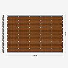 Заборная секция «Шахматка горизонтальная» 3×2,025 м, фото 3