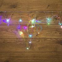 """Световая гирлянда """"Бахрома"""" (""""Айсикл"""") - 1,8 х 0,5 метра, 48 лампочек, разноцветная (RGB), смена цвета"""