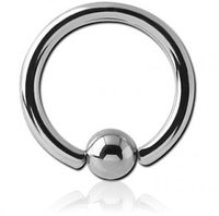 Кольцо для пирсинга хард, с шариком