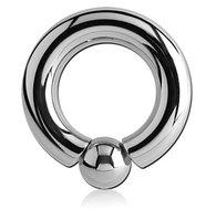 Кольцо-хард, с вкручивающимся шариком (5,0-14.0-8) хир. сталь 316L