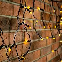 "Уличная гирлянда ""Бахрома"" (""Айсикл"") - 4,8 х 0,6 метра, 176 лампочек, желтый цвет, светит постоянно"