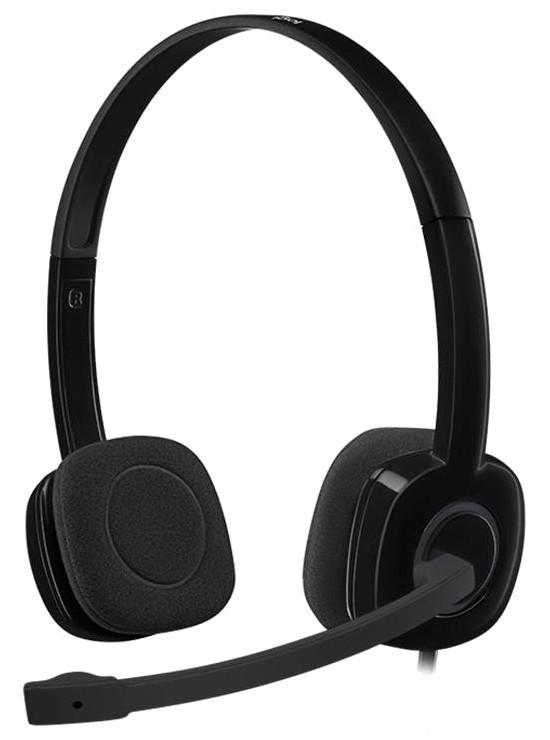 Гарнитура Logitech H151 (черная, 1 x 3.5мм, элементы управления на кабеле, кабель 1.8м) 981-000589