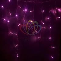 "Уличная световая гирлянда ""Бахрома"" (""Айсикл"") - 4,8 х 0,6 метра, 176 лампочек, розовый цвет, светит постоянно"