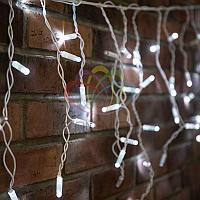 """Уличная LED гирлянда """"Бахрома"""" (""""Айсикл"""") - 4,8 х 0,6 метра, 176 лампочек, белый цвет, мерцание(каждый 5-й)"""