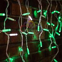 "Уличная  гирлянда ""Бахрома"" (""Айсикл"") - 4,8 х 0,6 метра, 176 лампочек, зеленый цвет, мерцание(каждый 5-й)"