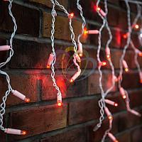 """Уличная LED гирлянда """"Бахрома"""" (""""Айсикл"""") - 4,8 х 0,6 метра, 176 лампочек, красный цвет, мерцание(каждый 5-й)"""