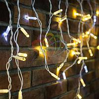 "Уличная гирлянда ""Бахрома"" (""Айсикл"") - 4,8 х 0,6 метра,176 лампочек, теплый -белый цвет, мерцание(каждый 5-й)"