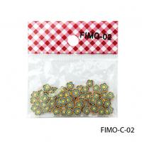 FIMO-C-02Фигурки FIMO в форме зеленых цветочков.