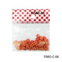 FIMO-C-08Фигурки FIMO в форме красно-оранжевых цветочков
