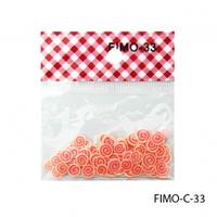 FIMO-C-33Фигурки FIMO в форме оранжево-красных спиралек