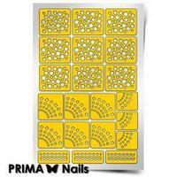 Трафарет для дизайна ногтей PRIMA Nails. Горошек