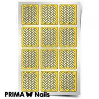 Трафарет для дизайна ногтей PRIMA Nails. Кирпичики-2