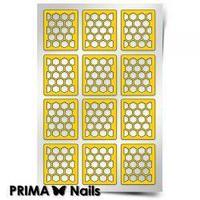 Трафарет для дизайна ногтей PRIMA Nails. Пчелиные соты