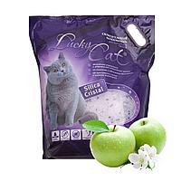 С ароматом яблока, 3,8л. силикагелевый впитывающий наполнитель Lucky Cat