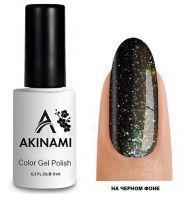 Топ для гель-лака AKINAMI Glitter Top №4, 9мл. (прозрачный с оливково-зелеными блестками)
