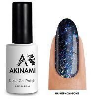 Топ для гель-лака AKINAMI Glitter Top №9, 9мл. (прозрачный с синими блестками)