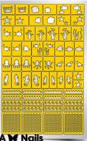 Трафарет для дизайна ногтей PRIMA Nails. Морское дно (22 дизайна+ 55 полосок)