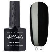 №014 Гель-лак ELPAZA Истинно чёрный 10мл.