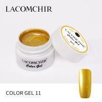 Цветной гель №11 золотой Lacomchir 8мл.