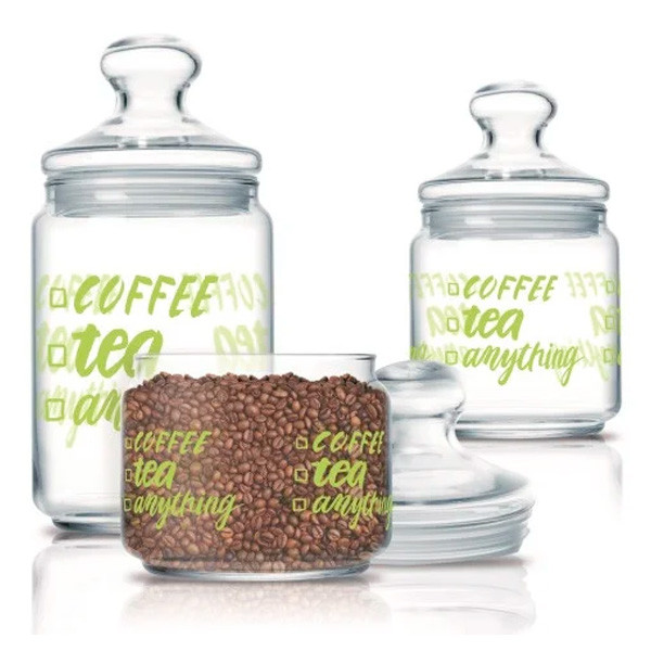 Набор банок для сыпучих Luminarc Coffee tea (3 шт.)