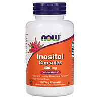 Now Foods, инозитол в капсулах, 500 мг, 100 вегетарианских капсул