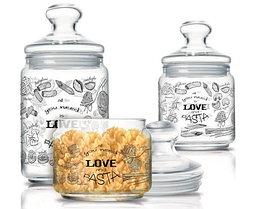 Набор банок для сыпучих Luminarc Love pasta (3 шт.)