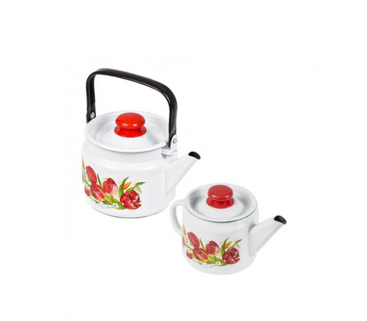 """Набор эмалированных чайников """"Ласковый май"""""""