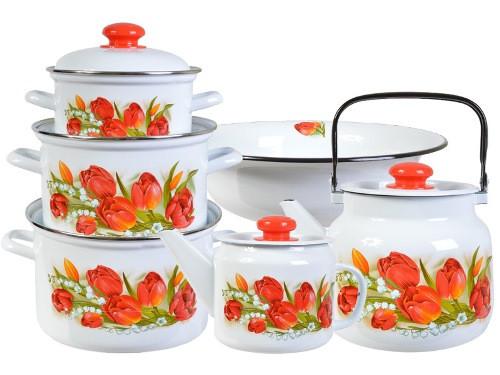 """Набор эмалированной посуды """"Ласковый май"""""""