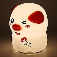 Ночник-светильник силиконовый Свинка