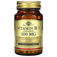 Solgar, витамин В1, 100 мг, 100 растительных капсул