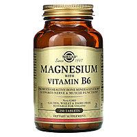 Solgar, магний с витамином B6, 250 таблеток