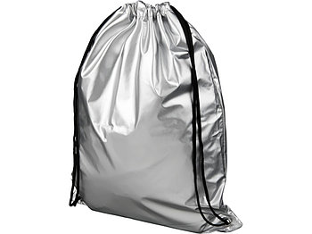 Блестящий рюкзак со шнурком Oriole, серебристый