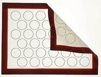 Коврик жаропрочный армированный с разметкой и бортиком для выпечки Caramella {антипригарный} (30x40 см / 36