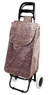 Сумка-тележка хозяйственная 8569 Delux с цветочным принтом (Леопард)