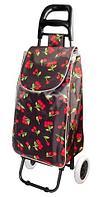 Сумка-тележка хозяйственная 8569 Delux с цветочным принтом (Cherry lady)