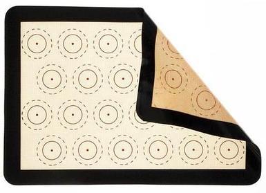 Коврик жаропрочный армированный с разметкой и бортиком для выпечки Caramella {антипригарный} (30x40 см / 24
