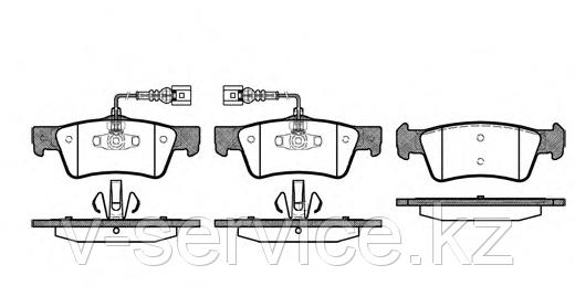 Тормозные колодки REMSA     1187.02-AF