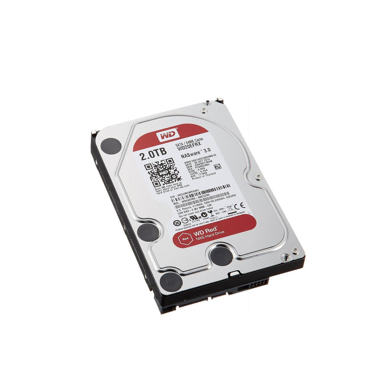 Жесткий диск внутренний Western Digital (WD) Red WD20EFRX (2Тб (2000Гб), HDD, 3,5″, Для систем хранения (СХД),