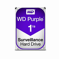 Жесткий диск внутренний Western Digital (WD) PURPLE WD10PURZ (1тб (1000Гб), HDD, 3,5″, Для видеонаблюдения,