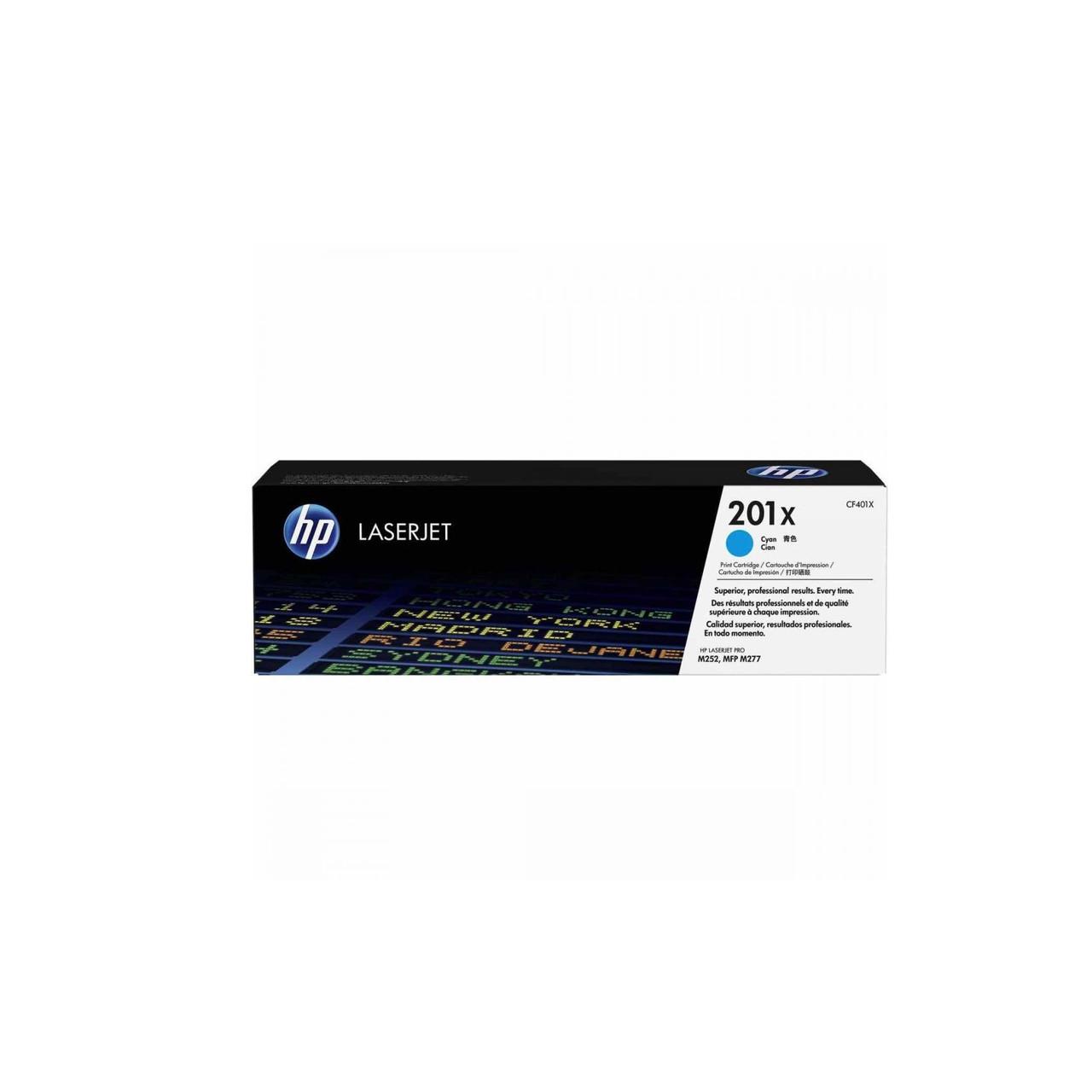 Лазерный картридж HP 201X (Оригинальный, Голубой - Cyan) CF401X