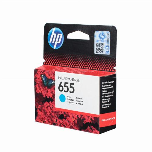 Струйный картридж HP 655 (Оригинальный, Голубой - Cyan) CZ110AE
