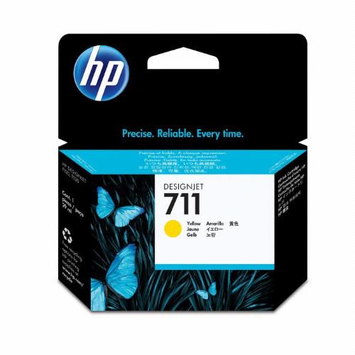 Струйный картридж HP 711 (Оригинальный, Желтый - Yellow) CZ132A