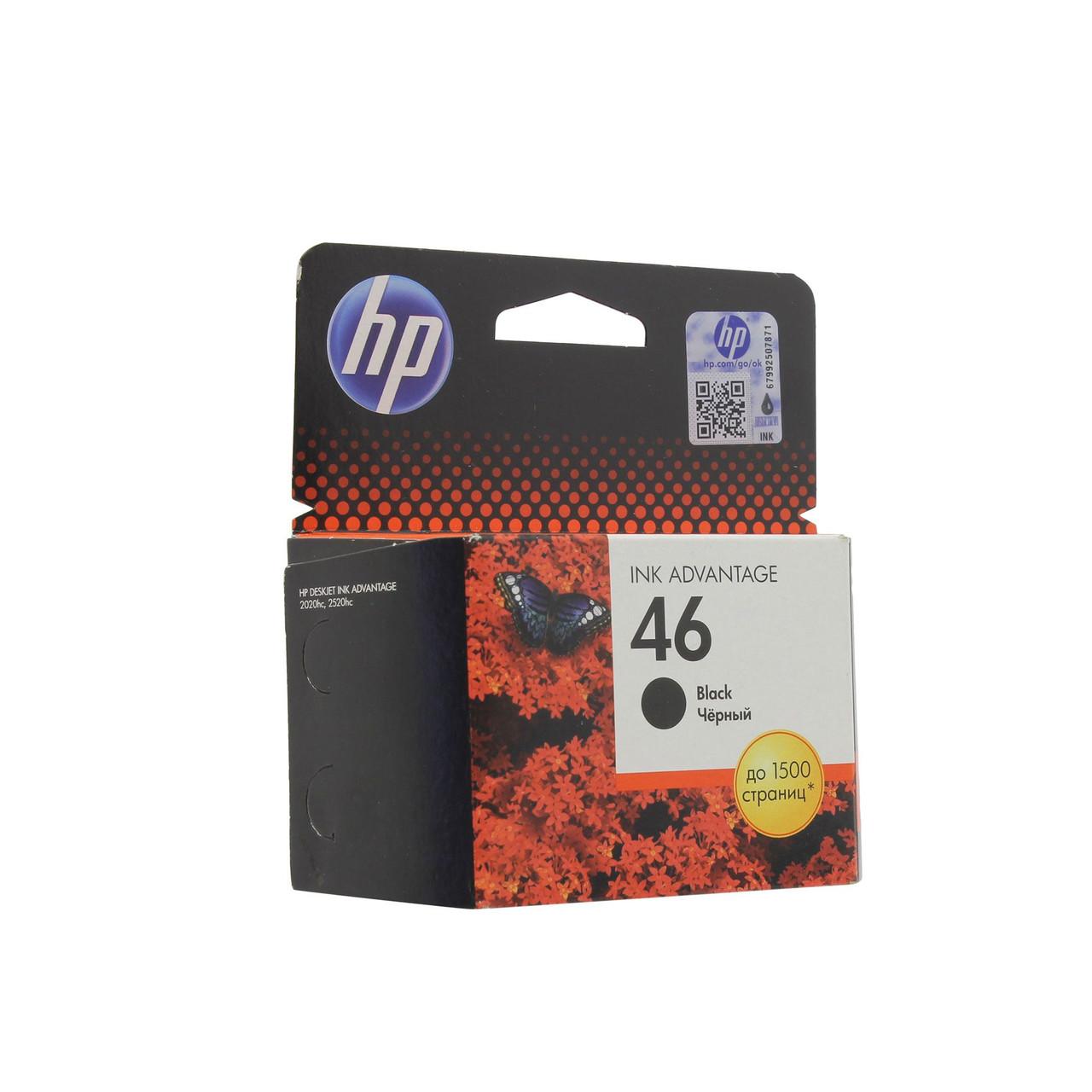 Струйный картридж HP 46 (Оригинальный, Черный - Black) CZ637AE