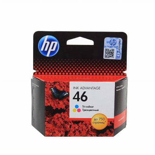 Струйный картридж HP 46 (Оригинальный, Цветной) CZ638AE